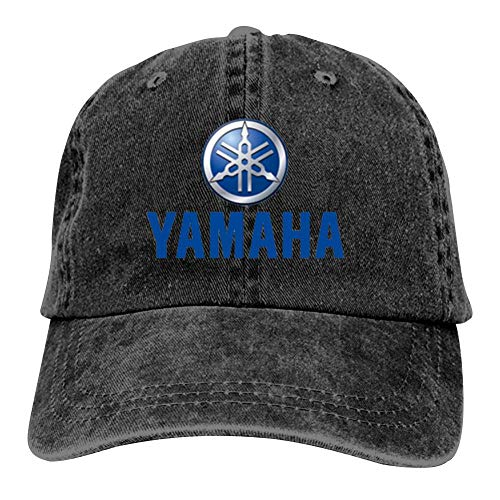 BEKAI Unisex Cowboy Cap | Yamaha Motor Car Logo Adjustable Baseball Sport/Sun/Trucker/Dad Peaked Hat Snapback Cap Black
