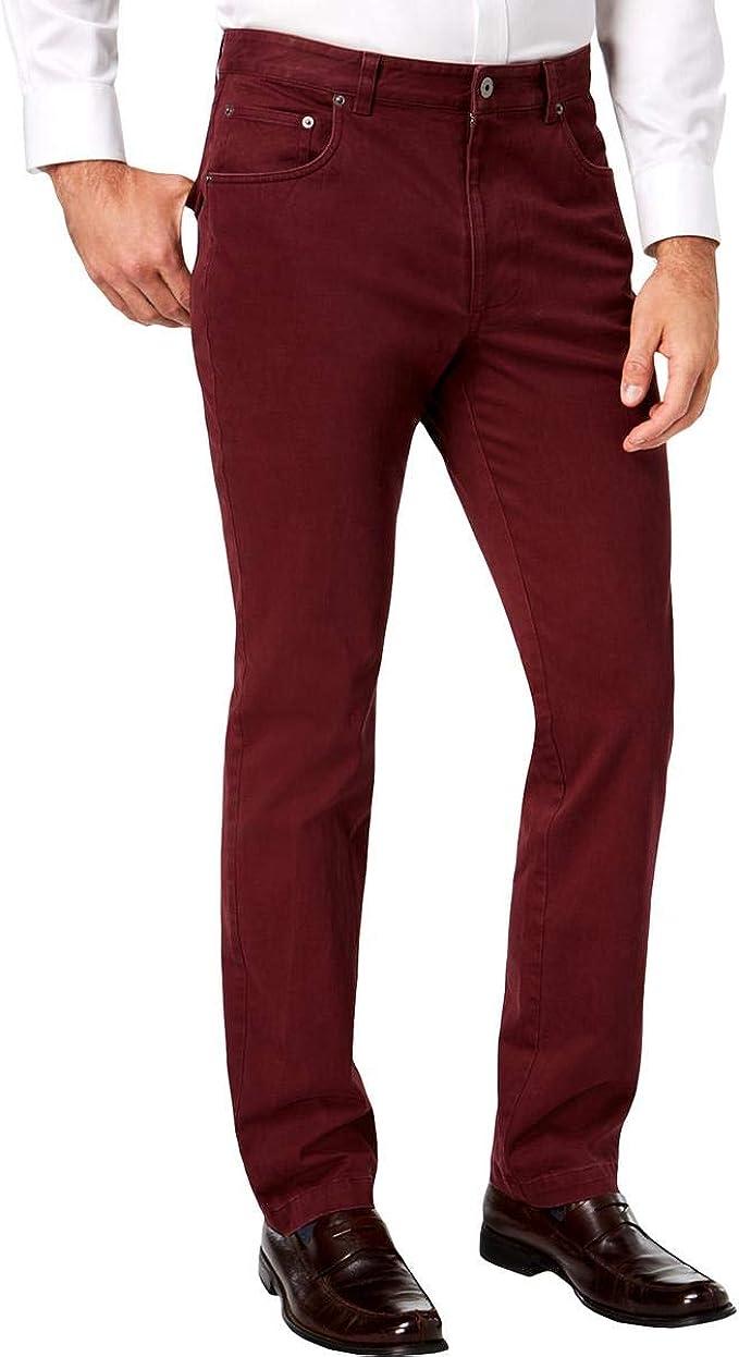 NEW $69 TASSO ELBA BLACK SIGNATURE CHINOS FLAT FRONT REG FIT KHAKI DRESS PANTS