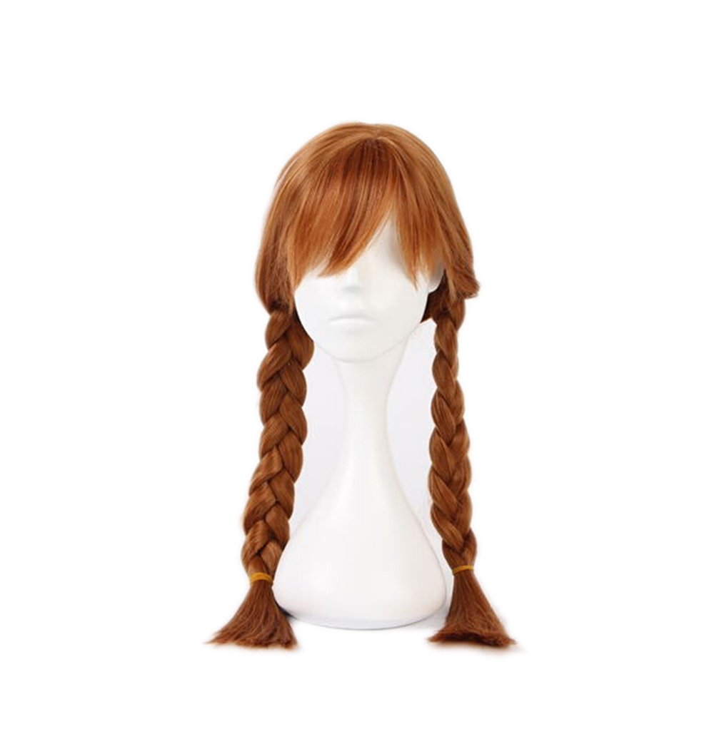 Beauty Smooth Hair Braids Girls Cartoon Animation Cosplay Child Wig Only for Children's Wig (Brown & # xFF09,