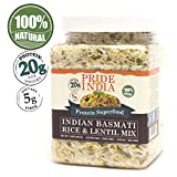 Pride Of India - White Basmati Rice & Yellow Lentil Kitchari Mix, 1.5 Pound Jar