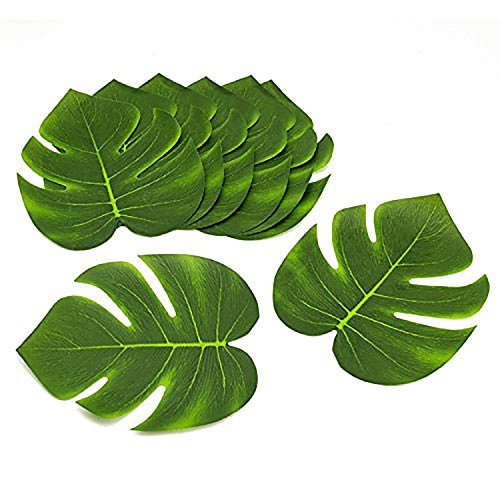 Tytroy-Coated-Fabric-Artificial-Tropical-Green-Plant-Leaves-Hawaiian-Luau-Party-Decoration