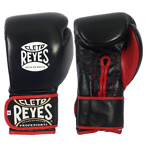 Ringside Cleto Reyes Hybrid Lace / Hook & Loop Training Gloves, Black, X-Small