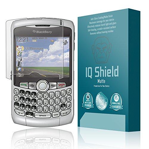 BlackBerry Curve 8300 Screen Protector, IQ Shield Matte Full Coverage Anti-Glare Screen Protector for BlackBerry Curve 8300 Bubble-Free Film - with