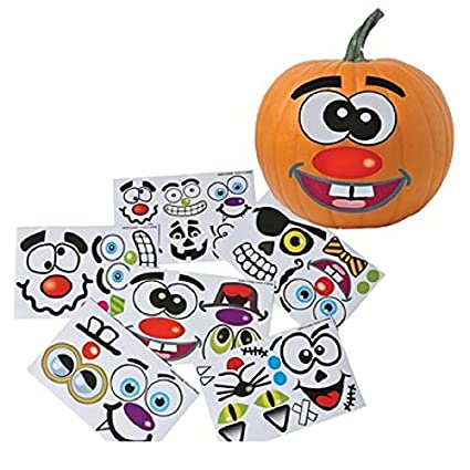 Make your own jack o lantern halloween sticker set package of 12 sticker sheets