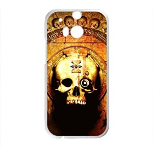 Skull Pattern High Quality Custom Protective Phone Case Cove For HTC M8