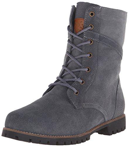 Dije California Womens Estes Lace Up Work Combat Boot Charcoal K7yqEot