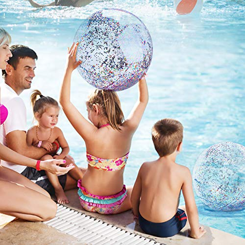 Parts3A Beach Ball for Parties Beach Balls Inflatable 16 inch 24 inch, Holidays - Pool Water Toys(2pc)