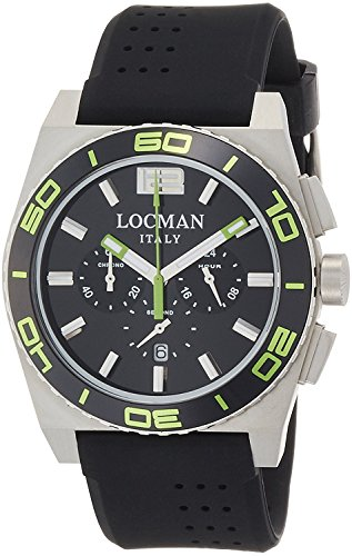 LOCMAN watch stealth Mare quartz chronograph rotating bezel Men's 0212 021200KG-BKKSIK Men's [regular imported goods]