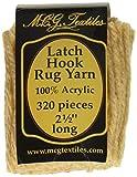 M C G Textiles Latch Hook Rug Yarn, Tan