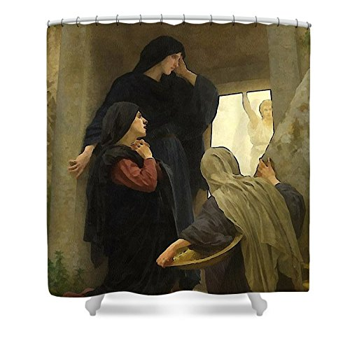 Pixels Shower Curtain (74'' x 71'') ''The Holy Women At The Tomb'' by Pixels