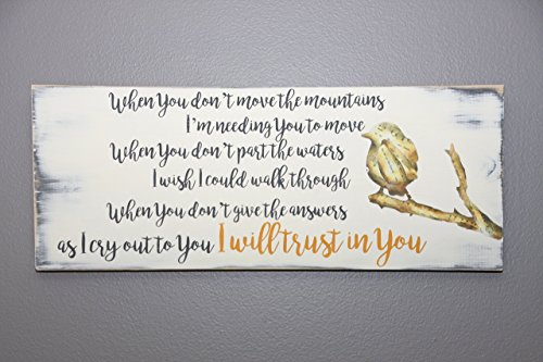 Trust in You lyrics handmade wooden sign by jumpingPineapple (Image #2)