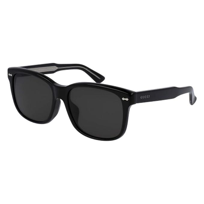 e6ea379397d Sunglasses Gucci GG 0050 SA- 001 001 BLACK GREY   BLACK  Amazon.ca   Clothing   Accessories