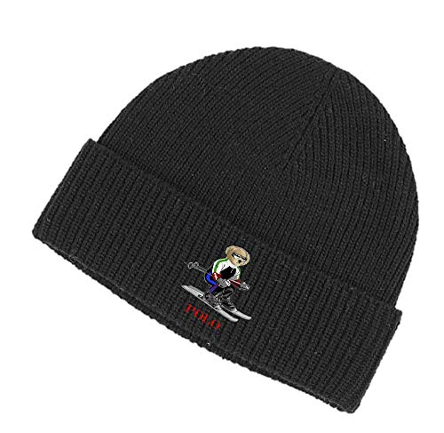 Polo Ralph Lauren Signature Merino Wool Beanie (Black) from Polo Ralph Lauren
