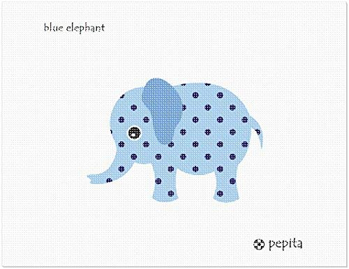 Needlepoint Blue (Pepita Blue Elephant Needlepoint Kit)