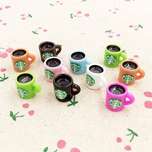 ZAMTAC 10 Pieces Kawaii 3D Resin Cup Fairy Garden Miniatures Terrarium Decoration Figurines DIY Craft for Dollhouse Accessories 1215mm ()