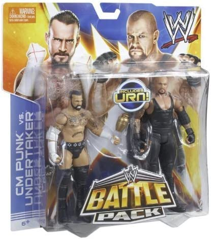 WWE Battle Pack CM Punk vs. Undertaker with Urn Action Figure, 2-Pack by Mattel [Toy] (English Manual): Amazon.es: Juguetes y juegos