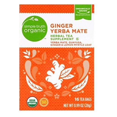 Simple Truth Organic Ginger Yerba Mate 16 Ct Tea Bags (Pack of 2)