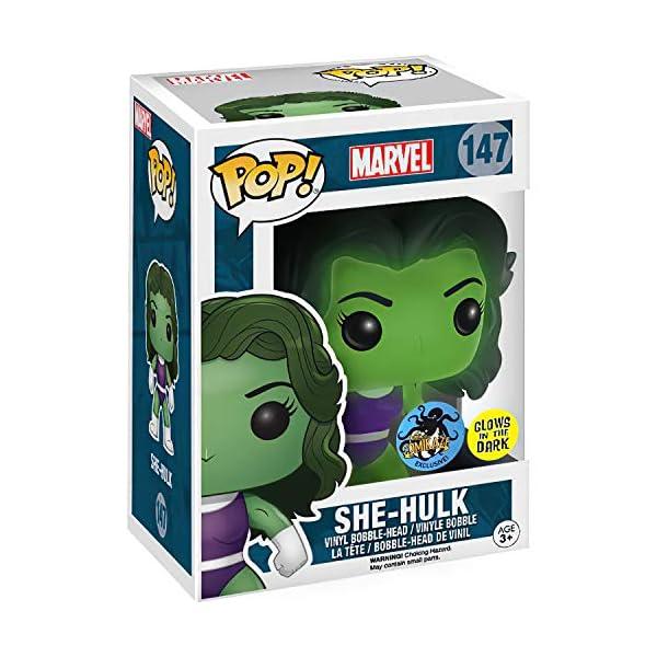 51JOKV9FuML She-Hulk [Glow-in-Dark] (Comikaze Exc): Funko Pop! Vinyl Figure Bundle with 1 Compatible 'ToysDiva' Graphic Protector (147 - 11836 - B)