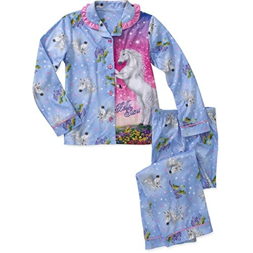 - Bella Sara 2 PC Long Sleeve Coat Pajama Set Girl Size 4/5