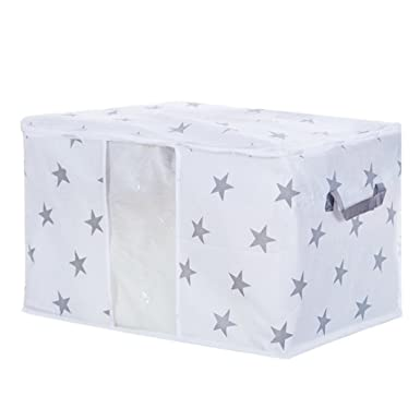 Paellaesp Bolsas de almacenaje cama Bolsa de almacenamiento plegable ropa manta edredón armario suéter caja organizador bolsas