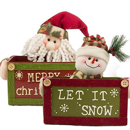 Articoli per feste e compleanni Forniture per l'istruzione Chytaii Contenitore per Caramelle Natale Bomboniera Confezione Organizzatore Portaoggetti Cioccolato Biscotti Bambini Bambola Carino Accessorio Decorazione da Tavolo Piccoli Regali