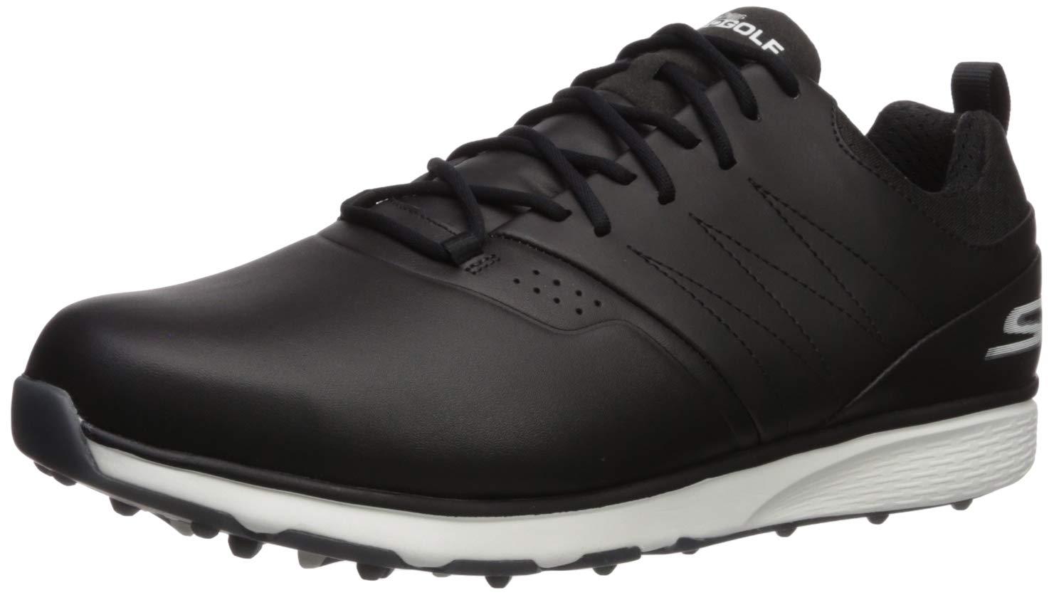 Skechers Men's Mojo Waterproof Golf Shoe, Black/Silver, 8 W US by Skechers