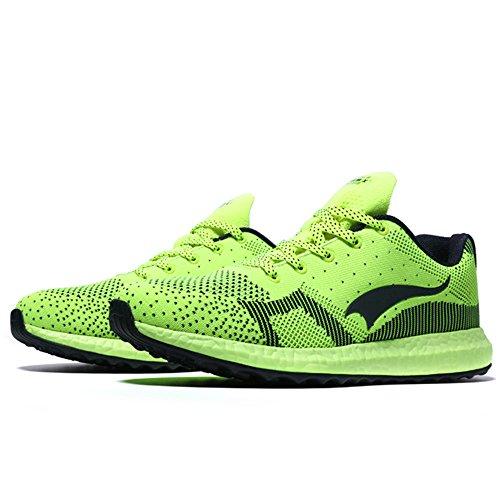 Herren atmungsaktiv Weave Laufschuhe Sport Sneaker Grün