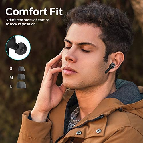 Monster Wireless Earbuds, Bluetooth Earbuds with Wireless Charging Case, TWS Stereo in-Ear Headphones, Hands-Free Headphones with Noise-canceling Microphones, Clear Calls, Suitable for Sports