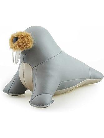 Zuny Series Walrus Walu Gray Animal Bookend
