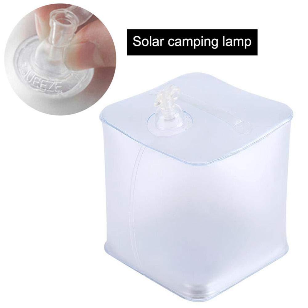 Caza Luz De Emergencia Al Aire Libre para Acampar Linterna Que Acampa del Cubo Impermeable Ip67 con 10 LED Womdee L/ámpara Solar Inflable Pesca Practicar Senderismo