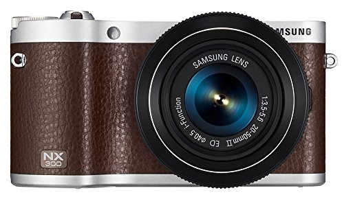 "Samsung NX300 20.3MP CMOS Smart WiFi Mirrorless Digital Camera with 18-55mm Lens and 3.3"" AMOLED Touch Screen (Brown)"