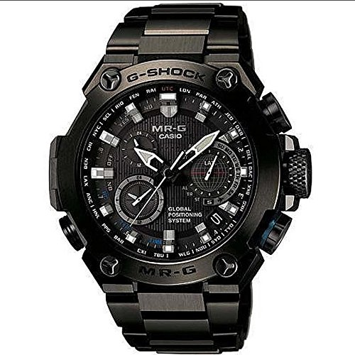 Casio Men's MRG-G1000B-1A G-shock MR-G Analog Quartz GPS Hybrid Wave Ceptor Solar Watch (Ceptor Watch Solar Wave Tough)
