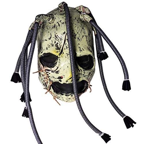 Musice Festival Corey Taylor Latex Mask Dreadlocks Braids Slipknot Cosplay Halloween