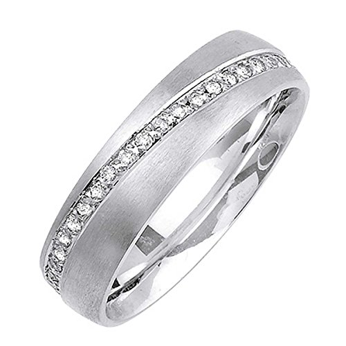 0.48ct TDW White Diamonds 18K White Gold Love Knot Men's Wedding Band (G-H, SI1-SI2) (6mm) Size-9.5c2 by Wedding Rings Depot (Image #1)