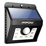 Mpow 8 LED Solar Lights Security Lights Motion Sensor 3-in-1 Waterproof Solar Powered Security Lights Outdoor Light Wall Lamp