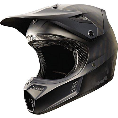 Fox Racing Matte Black Men's V3 Motocross Motorcycle Helmet - Matte Black / X-Large