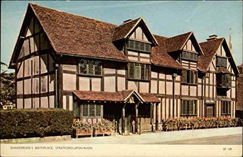 Shakespeares Birthplace Stratford Upon Avon England Original Vintage Postcard