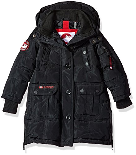 Canada Outerwear Styles Gear More Jacket Available black Girls' Weather Stadium Hooded cw055 Toddler rq50wnIrR