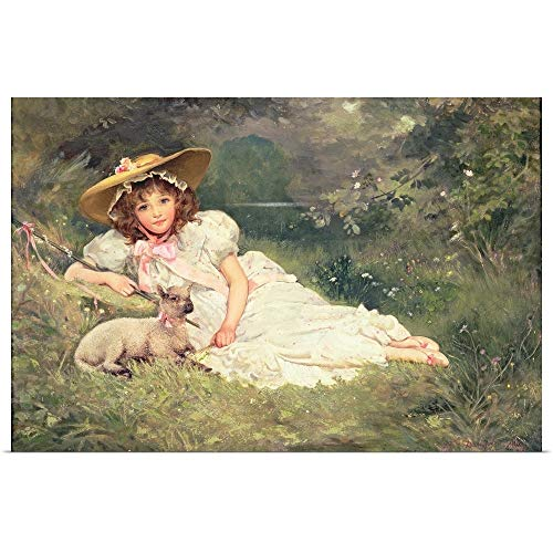 GREATBIGCANVAS Poster Print Entitled The Little Shepherdess by Arthur May 18