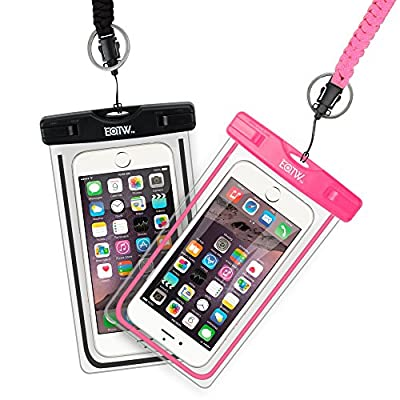 EOTW Waterproof Case Dry Bag Cell Phone Pouch With Military Lanyard Strap For Kayaking Skiing Sledding Boating Surfing For iPhone 6 6S Plus 5S SE Samsung Galaxy S7 S6 S5 S4, Note 5 4 3