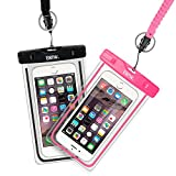 EOTW 2 Pack IPX8 Universal Waterproof Case for Smartphone Device to 6'' Fit iPhone X/8/8plus 7plus/6plus Samsung Galaxy s8/s8plus/s7 Google Pixel HTC10,for Water Parks/Beach/Cruise/Pools snorkeling