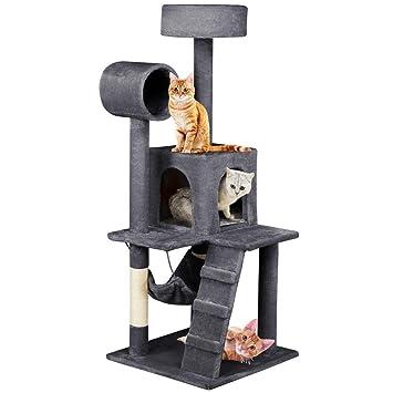 Yaheetech Árbol para Gatos Rascador con Plataforma Rascador Sisal Escalador para Gatos 50cm x 50cm x 133cm: Amazon.es: Productos para mascotas