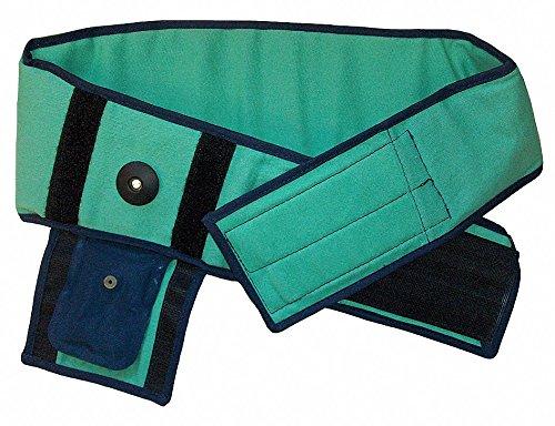 Cotton Fire Retardant Shell, Foam Liner Back Support, 6-1/2'' Width, S, Green