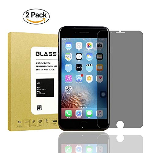 [2Pack] for iPhone 7 Plus/iPhone 8 Plus Privacy Anti-Spy Screen Protector,Lushim[Full Coverage][9H Hardness][Anti-Scratch][Bubble Free] Tempered Glass Screen Protector for iPhone 7Plus/iPhone 8Plus