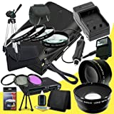 Canon EOS 70D DSLR Camera with 18-55mm STM f/3.5-5.6 Lens LP-E6 Lithium Ion Replacement Battery and External Rapid Charger + 58mm 3 Piece Filter Kit + Full Size Tripod + 58mm Macro Close Up Kit + 58mm 2x Telephoto Lens + 58mm Wide Angle Lens + Carrying Ca