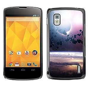 Be Good Phone Accessory // Dura Cáscara cubierta Protectora Caso Carcasa Funda de Protección para LG Google Nexus 4 E960 // Asteroid Belt Planet Space Cosmos Universe