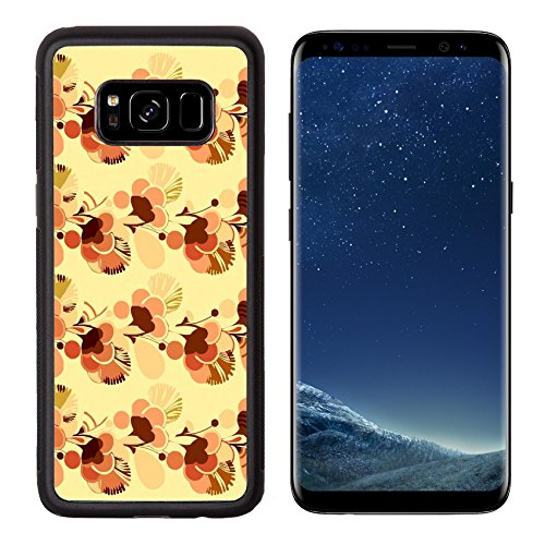 MSD Premium Samsung Galaxy S8 Aluminum Backplate Bumper Snap Case IMAGE ID: 3495641 Sixties psychedelic wallpaper background with swinging London style flowers