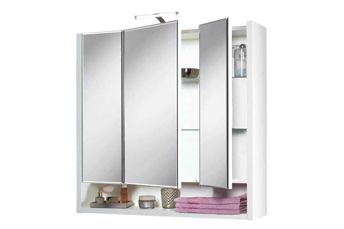 Livarno®Living Spiegelschrank mit 3 Türen - LED Beleuchtung: Amazon ...