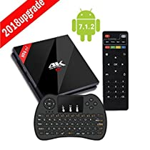 H96 Pro Plus TV Box 3GB RAM 32GB ROM Android 7.1 Nougat UHD 4K Smart TV Box with Dual-band WIFI 2.4GHz/5.0GHz Bluetooth 4.1 1000M LAN 4K 2K