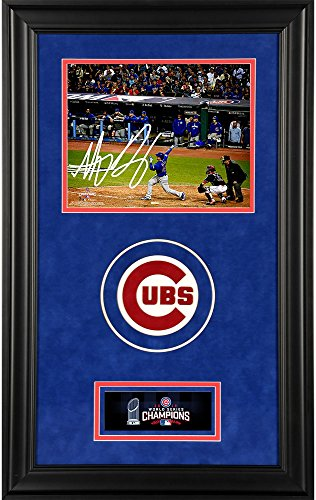 Anthony Rizzo Chicago Cubs 2016 MLB World Series Champions Deluxe Framed Autographed 8